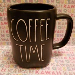 "Brand new Rae Dunn black ""COFFEE TIME"" coffee mug"